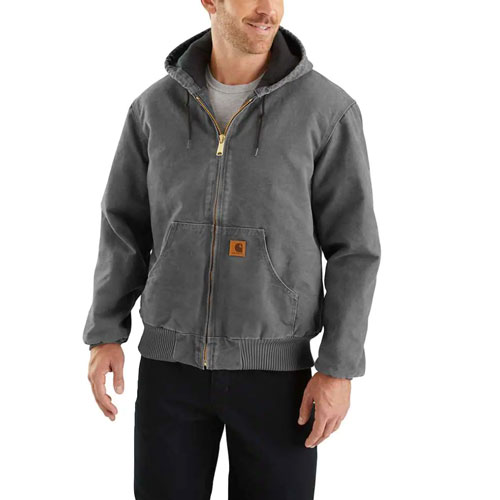 Men's Sandstone Sherpa-Lined Sierra Jacket, Gray, swatch