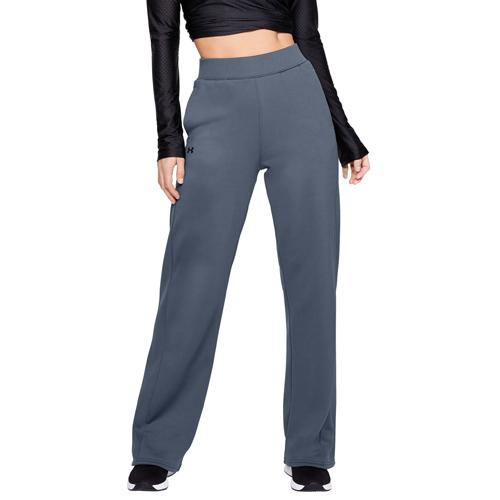 Women's Armour Fleece Open Pant, Charcoal,Smoke,Steel, swatch