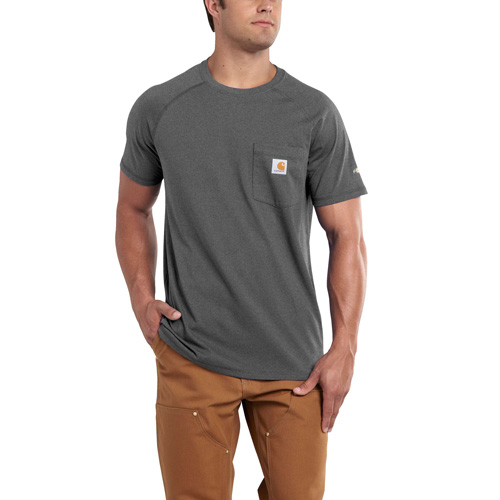Men's Short Sleeve Force Cotton Delmont Tee, Charcoal,Smoke,Steel, swatch