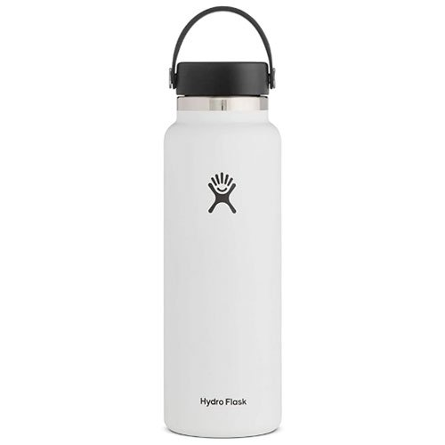 40oz Wide Mouth Stainless Steel Bottle, White, swatch