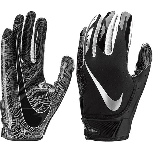Youth Vapor Jet 5.0 Football Gloves, Black, swatch