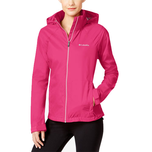 Women's Rainwear Switchback Jacket, Rose, swatch