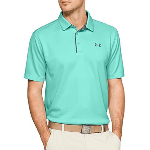 Men's Tech Golf Polo Shirt, Turquoise,Aqua, swatch
