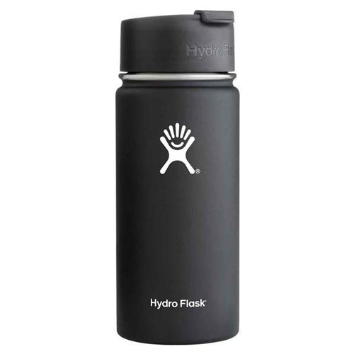 16 Oz Wide Mouth Water Bottle, Black, swatch