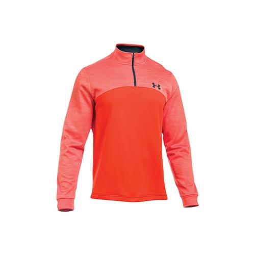 Men's Long Sleeve Armour Fleece Icon 1/4 Zip, Orange/Black, swatch