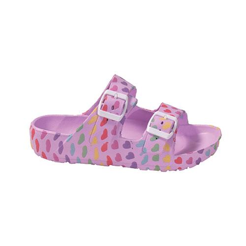 Girls' Printed EVA Sandal, Lilac,Lavendar, swatch