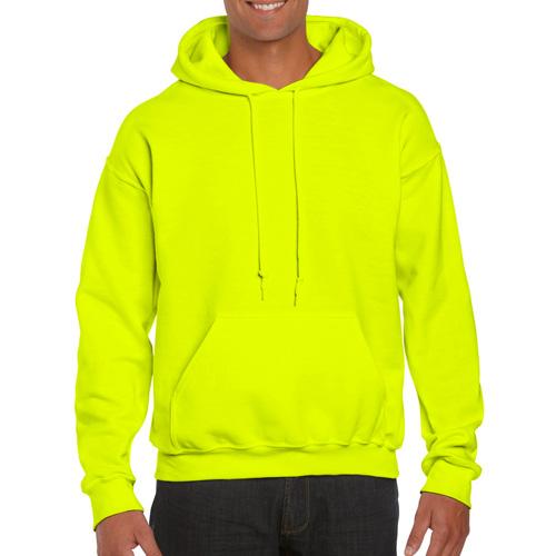 Men's Extdended Sizes Long Sleeve Hoodie, Florescent Green, swatch