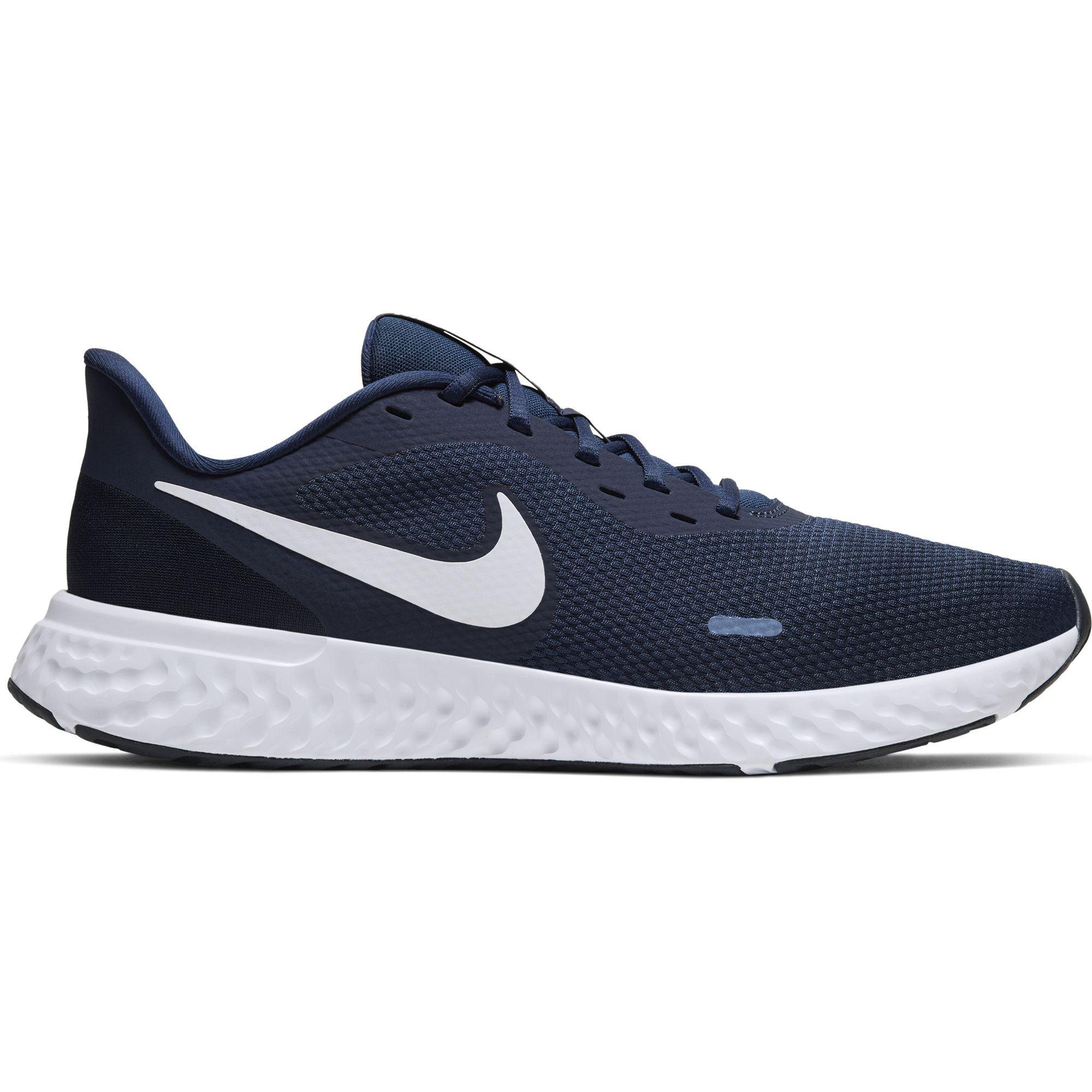 Men's Revolution 5 Running Shoes, Navy/White, swatch