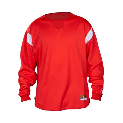 Youth Dugout Pullover, Red, swatch
