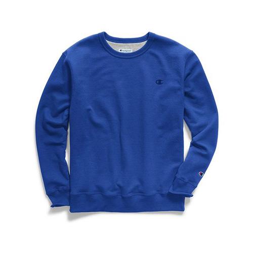 Men's Powerblend Pullover Crewneck, Blue, swatch