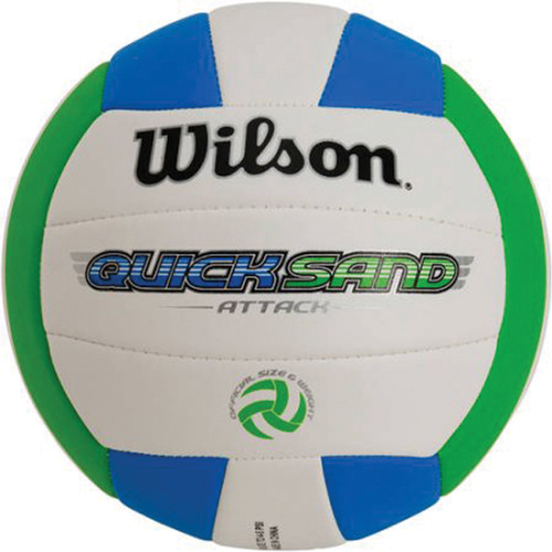 AVP Quicksand Volleyball, Blue/Green, swatch