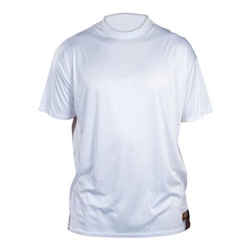 Youth Slugger Solid Short Sleeve Shirt, White, swatch