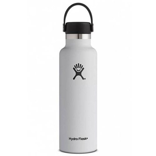 21 Oz. Standard Mouth Water Bottle, White, swatch