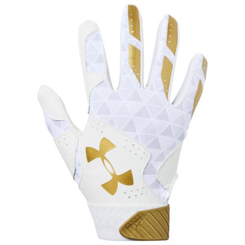 Youth Radar Fast Pitch Batting Gloves, White/Gold, swatch