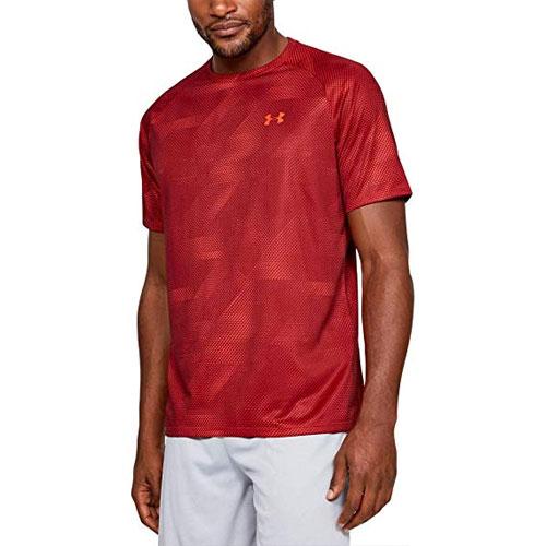 Men's Tech 2.0 Short Sleeve Printed T-Shirt, Red, swatch