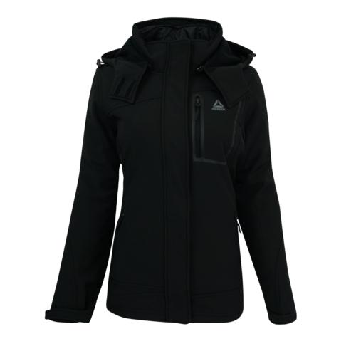 Women's Softshell System Jacket, Black, swatch