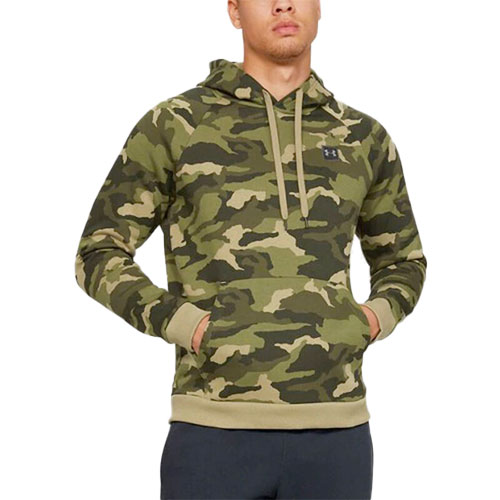 Men's Rival Fleece Camo Hoodie, Dkgreen,Moss,Olive,Forest, swatch
