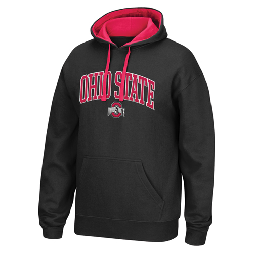 Men's Ohio State Tackle Twill Hoodie, Black, swatch