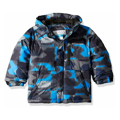 Boys' Lightning Lift Insulated Ski Jacket, Black/Blue, swatch