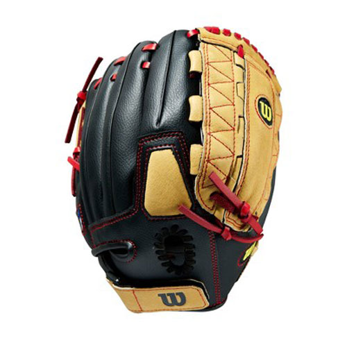 "A350 11.5"" MLB Series Ball Gloves, Black/Orange, swatch"