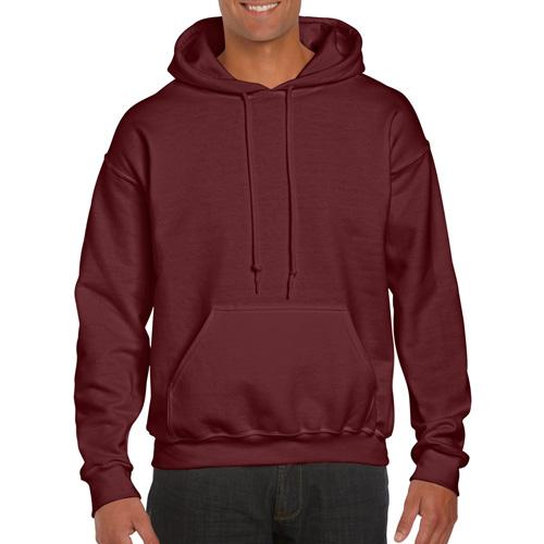 Men's Extdended Sizes Long Sleeve Hoodie, Maroon, swatch