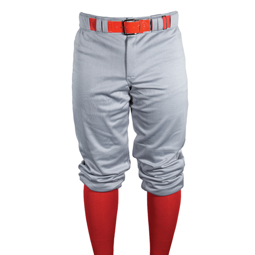 Youth Game Knicker Baseball Pant, Gray, swatch