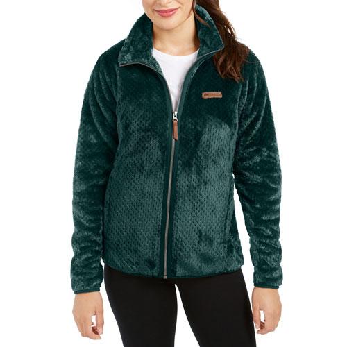 Women's Fireside II Sherpa Full-Zip Jacket, Dkgreen,Moss,Olive,Forest, swatch