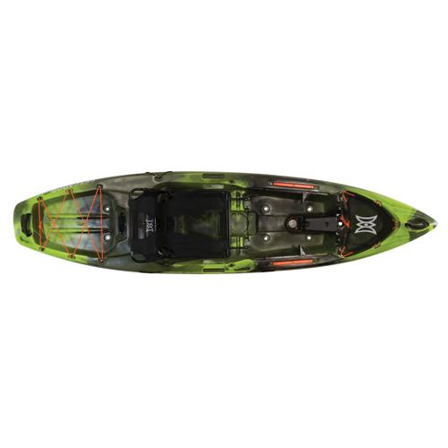 Pescador 10 Pro Angler Kayak, Green/Blk, swatch