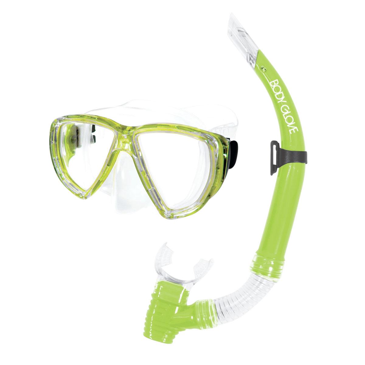 Puerto Mask/Snorkel Combo, Green/Yellow, swatch