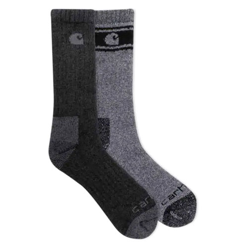 Wool Blend Crew Socks 4-Pack, Black, swatch
