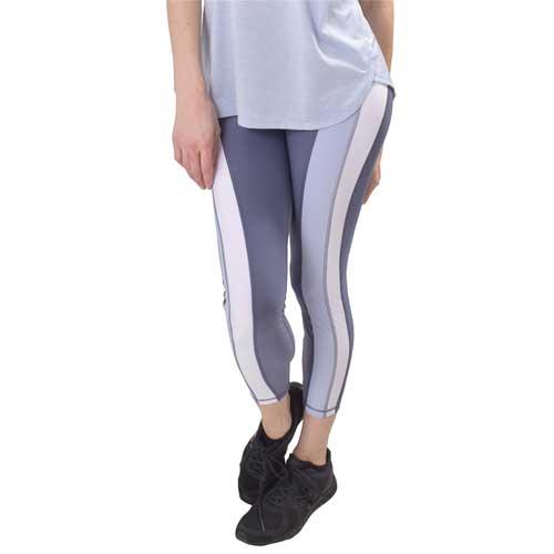 Women's 7/8 Colorblock Legging, Purple, swatch
