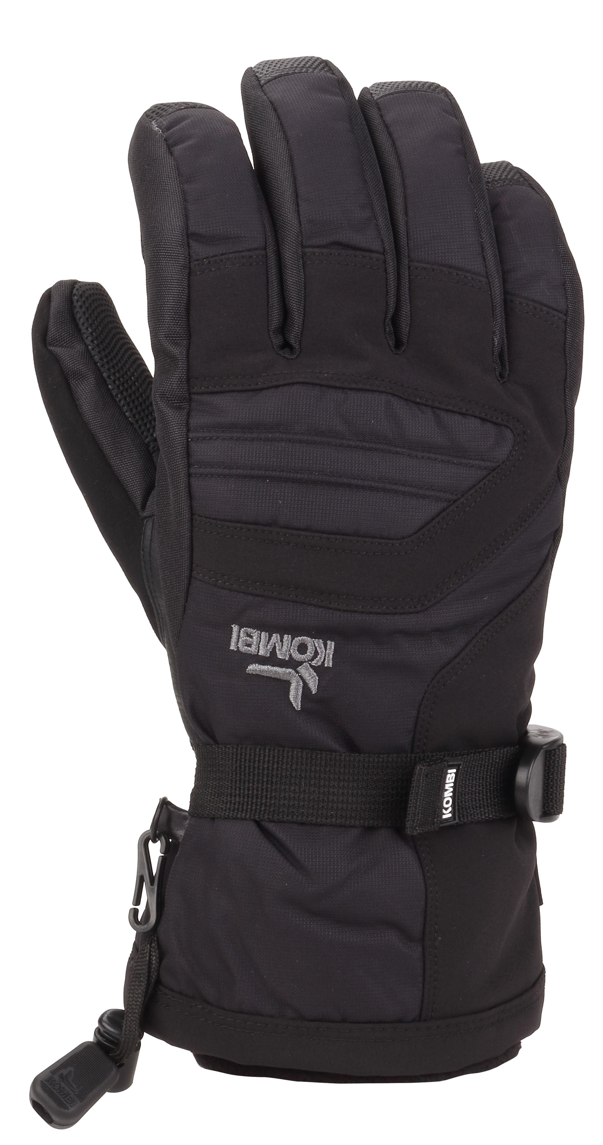Women's Storm Cuff III Ski Gloves, Black/Black, swatch