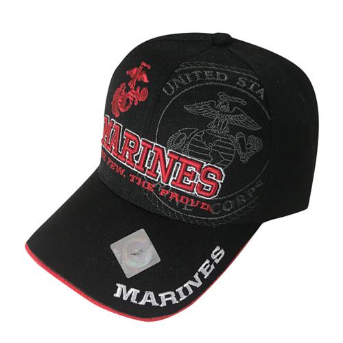 US Marine Cap, Black/Red, swatch
