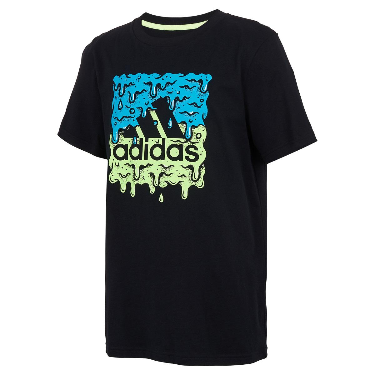 Boys' Short Sleeve Slime Badge Of Sport Tee, Black, swatch