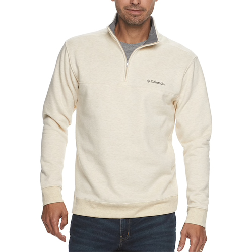 Men's Hart Mountain II Half-Zip Pullover, Cream,Natural,Eggshell, swatch