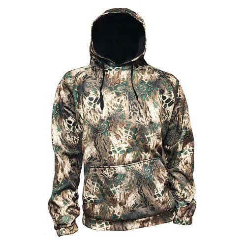Men's Hooded Camo Sweatshirt, Camouflage, swatch