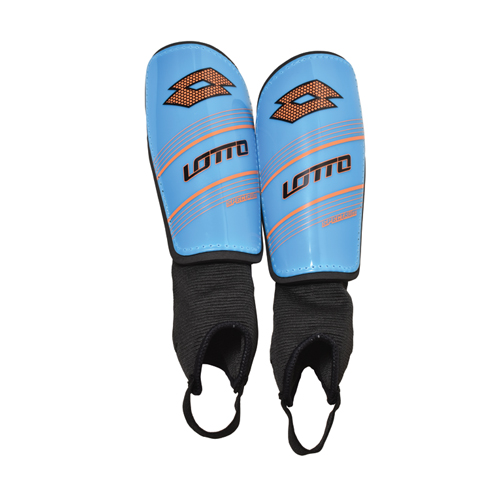 Youth Spectrum Shin Guards, Blue/Orange, swatch