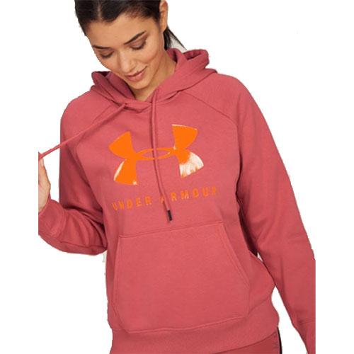 Women's Rival Fleece Sportstyle Graphic Hoodie, Hot Pink,Fuscia,Magenta, swatch