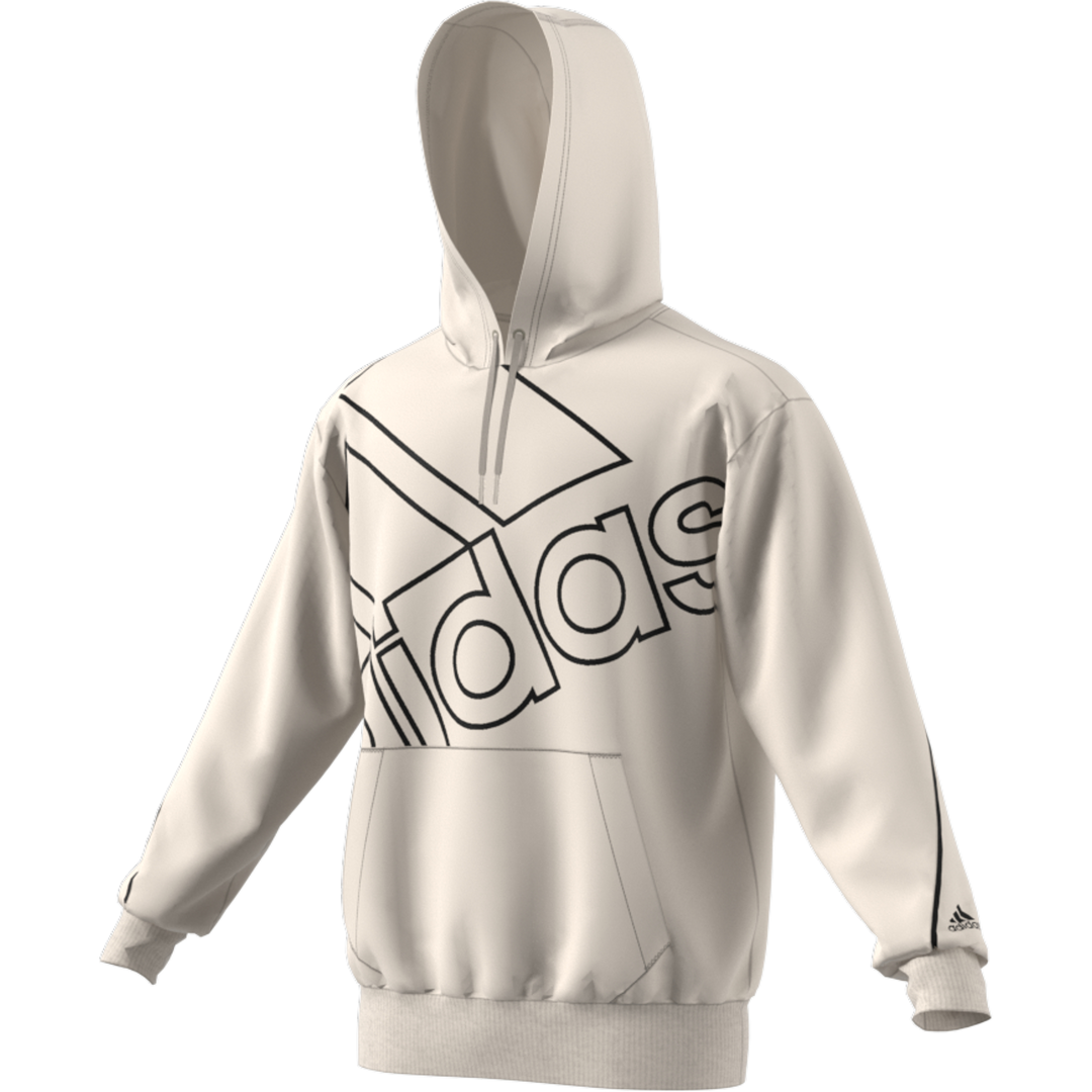 Men's Essentials Giant Logo Hoodie (relaxed Fit), Lt Gray,Dove Gray, swatch