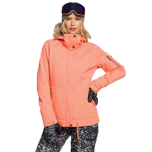 Women's Meade Snow Jacket, Coral, swatch