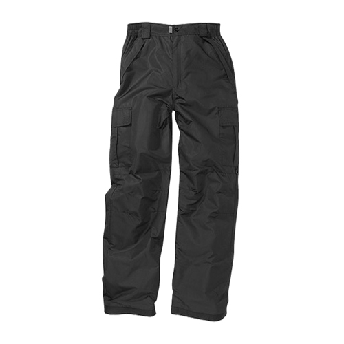 Mens Cargo Snowboard Pant, Black, swatch