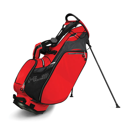 Hyper-Lite 3 Golf Stand Bag, Red, swatch
