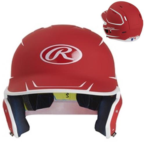 Senior MACH 2-Tone Matte Helmet, Red, swatch