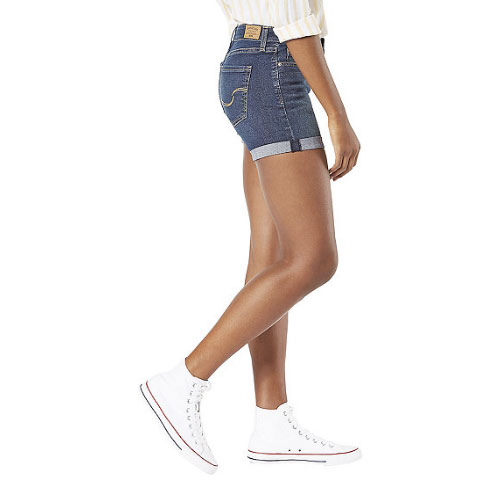 Women's Mid-Rise Shorts, Denim, swatch