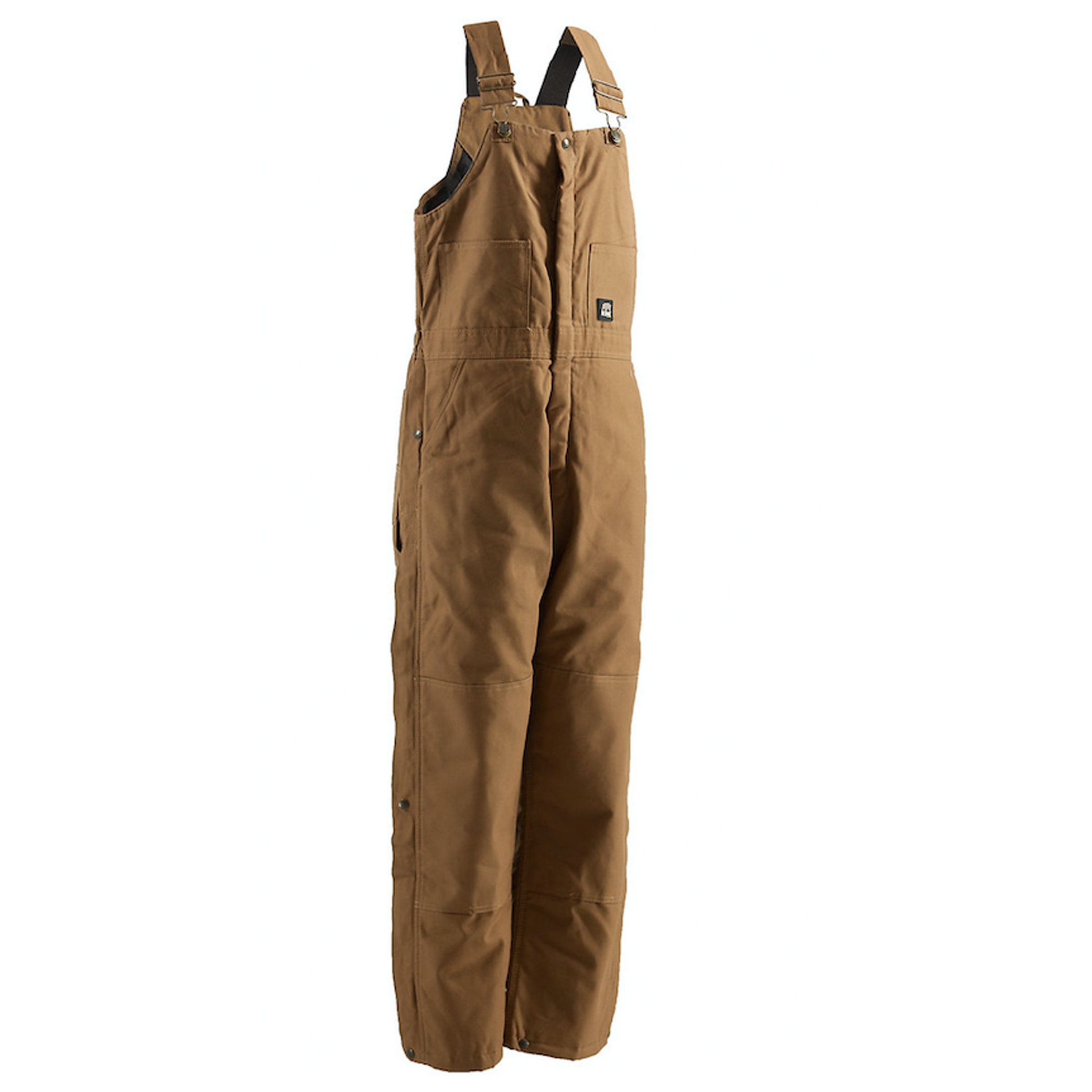 Deluxe Insulated Bib Overall - Short, Dark Brown,Dark Natural, swatch