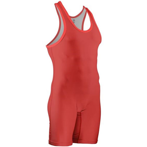 Historic Eagle Branded Stock Sublimated Singlet, Red, swatch