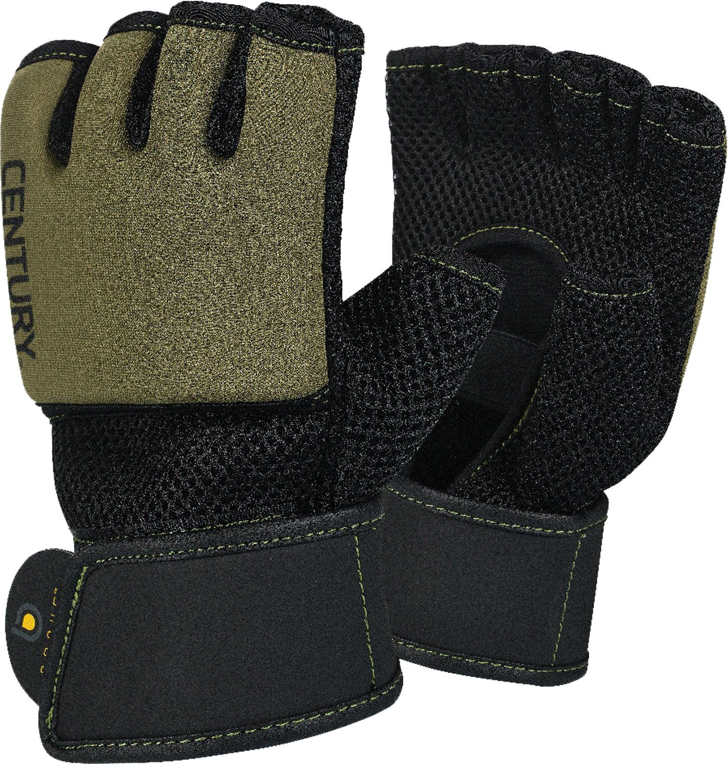 Brave Gel Training Gloves, Black/Olive, swatch