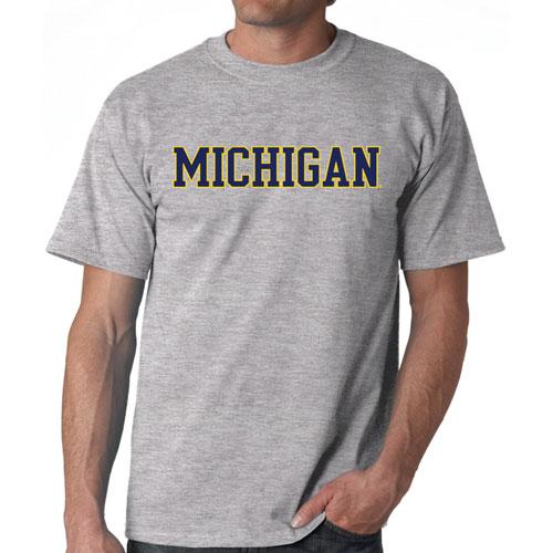 Michigan Straight Block T-Shirt, Gray, swatch