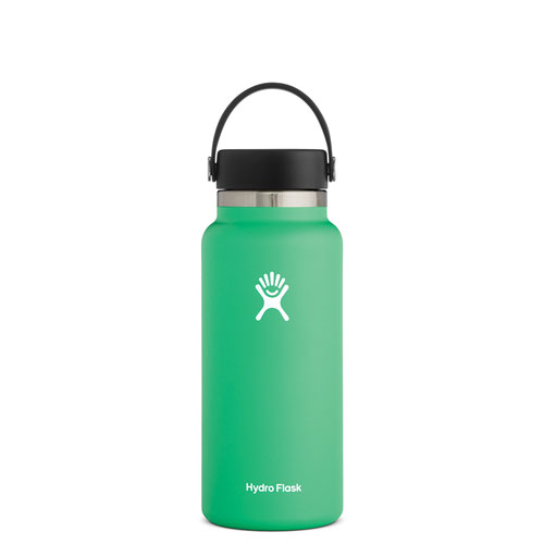 32 Oz Wide Mouth Water Bottle, Bright Grn,Kelly,Emerald, swatch