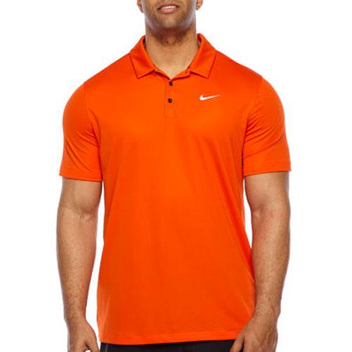 Men's Performance Polo, Orange, swatch